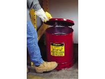 Avfallsbehållare i galvaniserad plåt